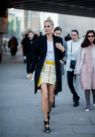 Poppy Delevingne at Burberry A/W '18 , London Fashion Week