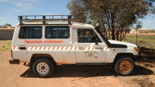 Ms Woodford's ambulance. (Supplied)