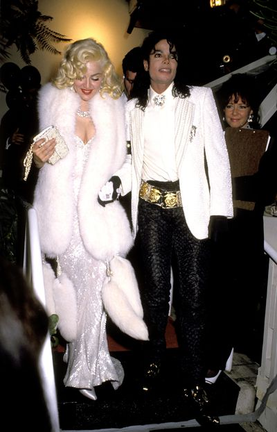 Michael Jackson with Madonna at the 63rd Annual Academy Awards After Party at Spago's Los Angeles, March 1991