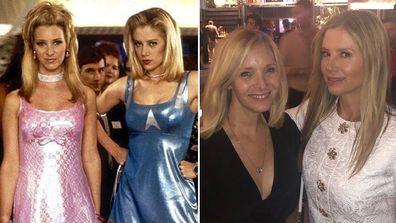 Mira Sorvino, Lisa Kudrow, reunite, Instagram photo, Romy and Michele's High School Reunion