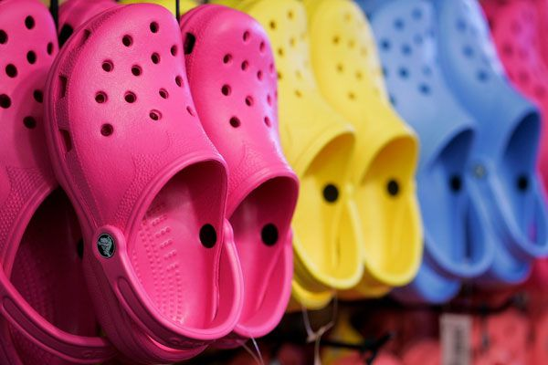Crocs has recorded a 50 percent fall in net income. (Getty)