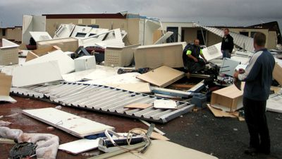 Cyclone George smashed into Port Hedland, Western Australia, in 2007. Three people died and numerous others were injured. The storm caused an estimated $6.2 million in damage. (AAP)
