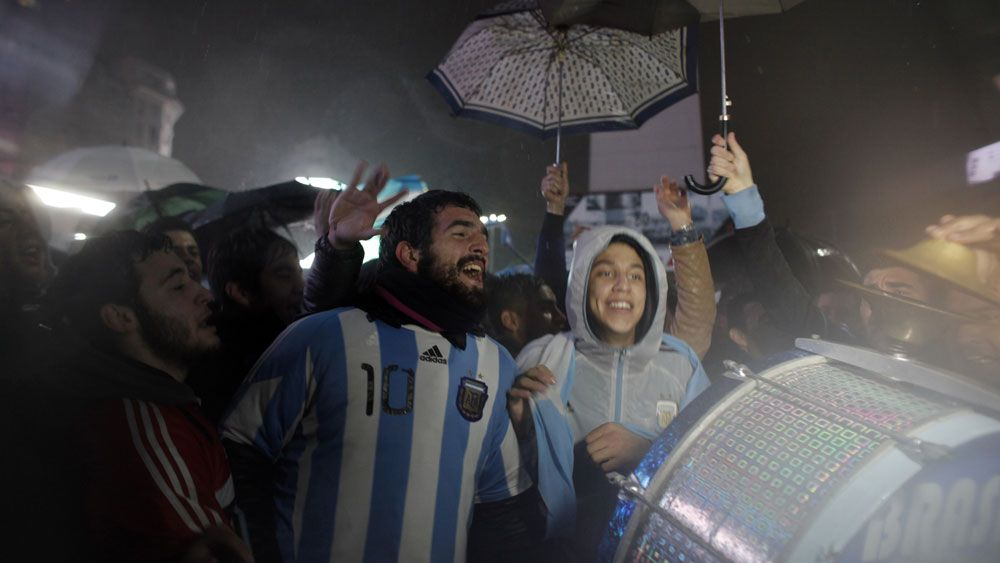 Hundreds of Argentina fans protest to get Lionel Messi to unretire from national team (AAP)