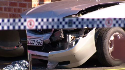 The area has been cordoned off as a crime scene. (9NEWS)