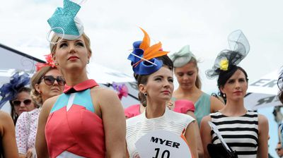 Some earnest expressions underneath some very abstract fascinators. (AAP)
