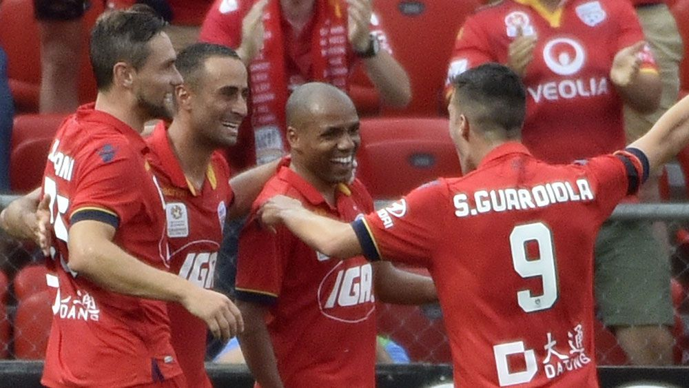 Henrique was the star for Adelaide United in their win over Wellington. (AAP)