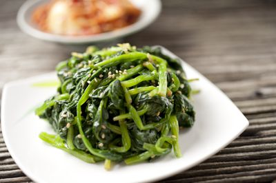 <strong>Cooked spinach</strong>