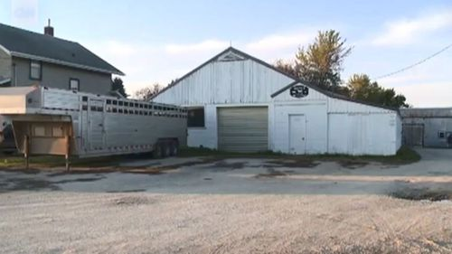 The owners of the house first noticed the red liquid seeping through their sump pit – a device used to remove water.