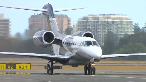 Prince Edward arrives in Adelaide. (9NEWS)