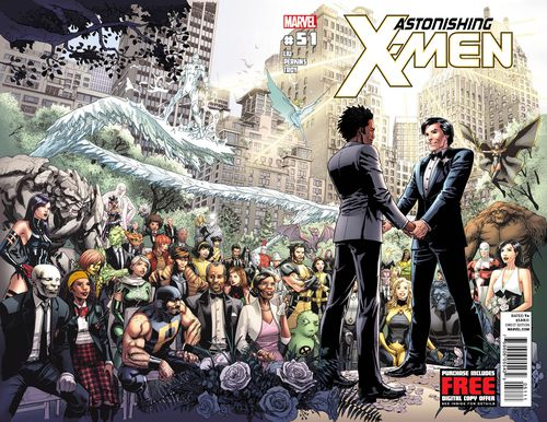 This comic book cover image released by Marvel shows Astonishing X-Men No 51. (AAP)