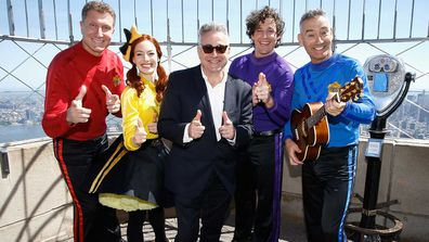 "Anthony Field, Emma Watkins, Paul Field, Lechlan Gillespie and Simon Price of ""The Wiggles"" in 2018."