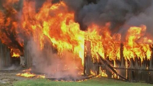 The fire was reportedly sparked by a tractor. (9NEWS)