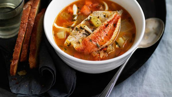 Rustic Italian seafood soup (Brodetto)