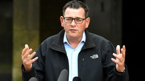 Victorian Premier Daniel Andrews addresses the media in Melbourne. Mr Andrews has spoken to the media on the impact of coronavirus throughout Victoria and government announcements to reduce it's spread.