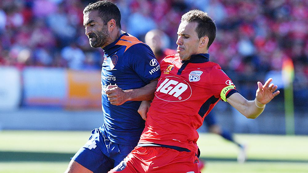 A-League: Brisbane Roar record rare win over Adelaide, captain Matt McKay red-carded