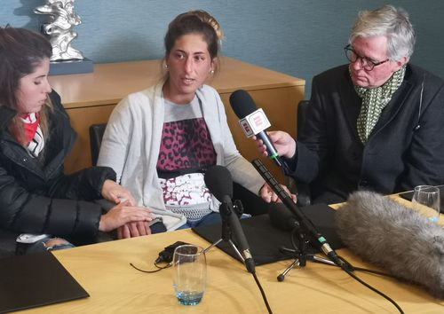 Emiliano Sala's sister is convinced he is still alive and emotionally begged rescuers not to call of the search for his plane.