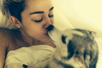 Who needs a man when you have a dog to make-out with?
