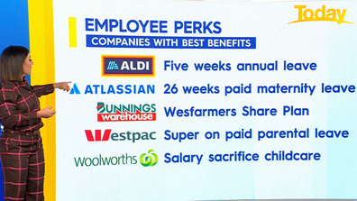 Companies with best benefits.