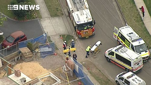 Paramedics performed CPR on a man at Carlingford but he has since died. (9NEWS)