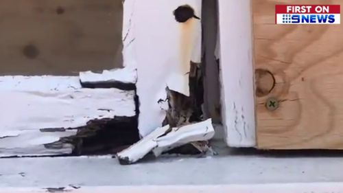 The school's classrooms were ravaged by storms last year. (9NEWS)