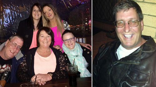 Missing Queensland father Terry Lloyd and his family.