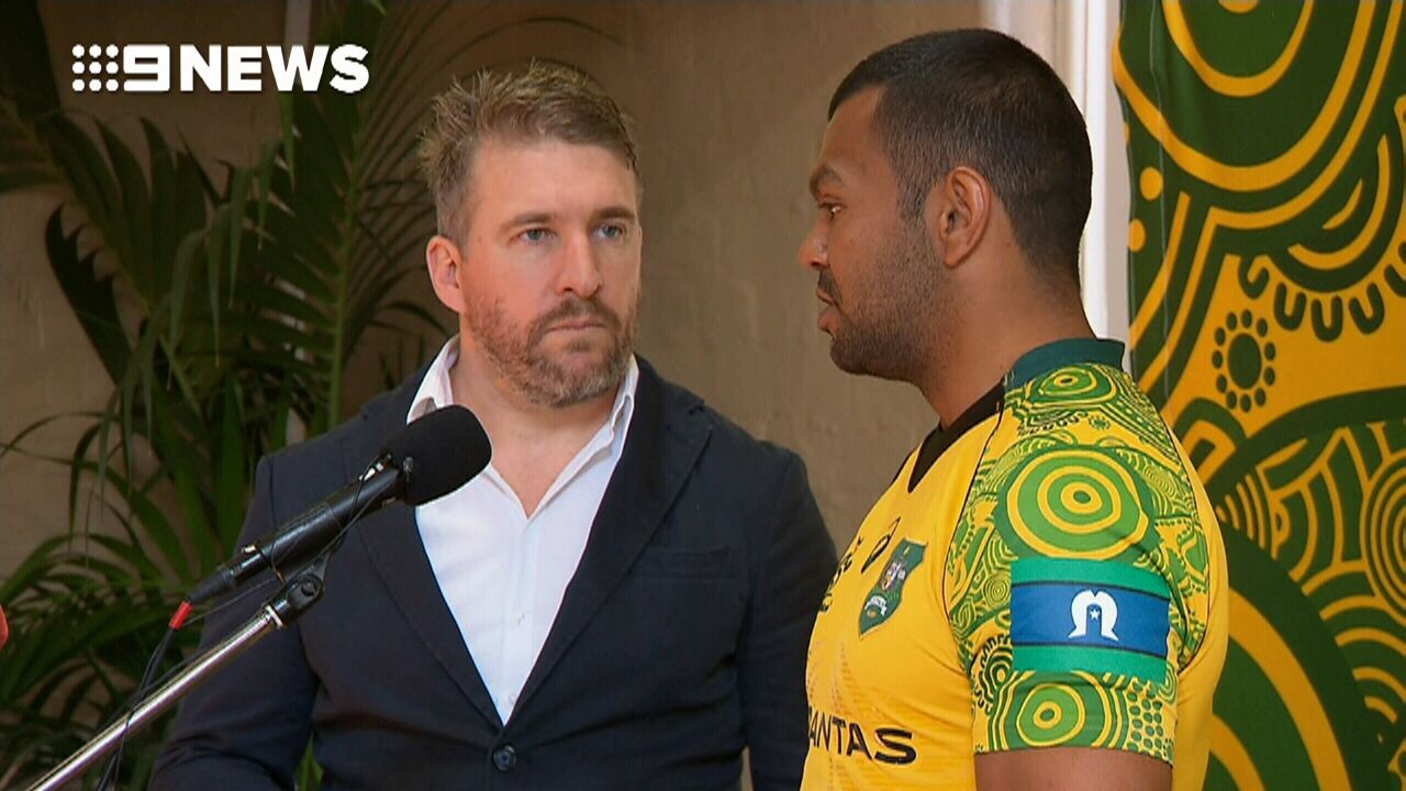 Kurtley Beale gets emotional at Wallabies Indigenous jersey launch