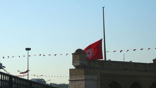 The Tunisian flag is lowered to half-mast to honour late President Beji Caid Essebsi.