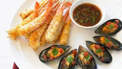 "<a href=""http://kitchen.nine.com.au/2016/05/17/23/27/thai-coconut-prawns"" target=""_top"">Thai coconut prawns<br> <br> </a>"