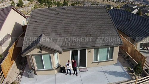 Adam Le Fevre and Stephen Paddock in a drone-captured photo.