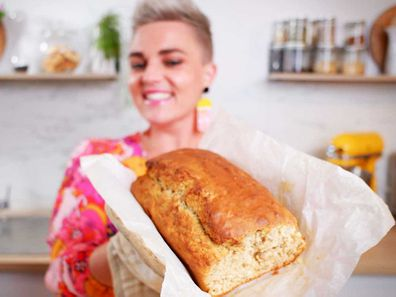 Easy five-ingredient, five minute mix banana bread