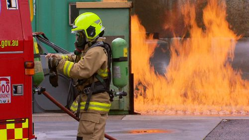 The new recruits attended a staged unit fire and a car rescue.