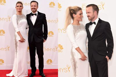 <i>Breaking Bad</i>'s Aaron Paul took home an Emmy for his work on the final season of the hit show. His wife Lauren Parsekian is a knockout! Not bad, Jesse Pinkman.