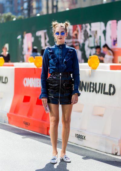 Chiara Ferragni outside Delpozo, New York Fashion Week