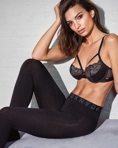 Emily Ratajkowski for DKNY's Fall 2018 Intimates collection