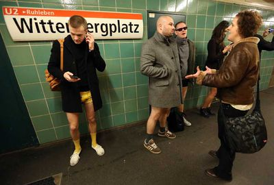 Subway riders in Berlin have embraced the event.
