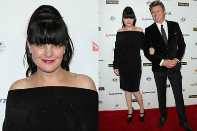 <i>NCIS</i> star Pauley Perrette and entertainment reporter Richard Wilkins