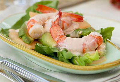Prawn cocktails with avocado