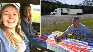 Lucas Fowler, 23, and his US girlfriend, Chynna Deese, 24, were found dead on the side of the remote Alaska Highway in Canada's rugged northern British Columbia. (Supplied)