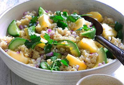 """Recipe: <a href=""""http://kitchen.nine.com.au/2016/05/05/11/05/quinoa-salad-with-pineapple-and-coriander"""" target=""""_top"""">Quinoa salad with pineapple and coriander</a>"""