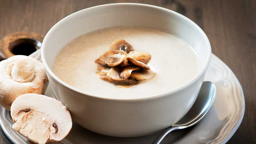 Susie Burrell's creamy chicken and mushroom soup