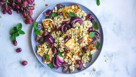 Grape, haloumi and cauliflower salad recipe