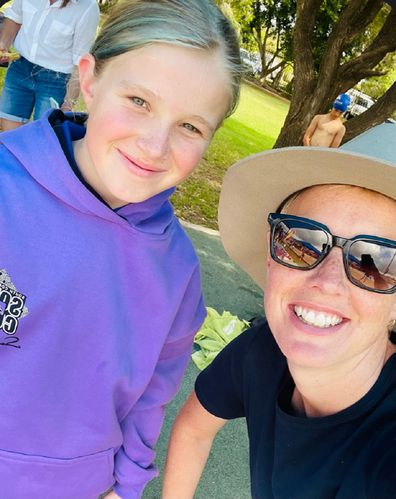 Dennielle cancer bushfires Good360 with daughter