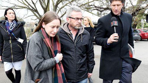 Borce Ristevksi with his and Karen's daughter, Sarah. (9NEWS)