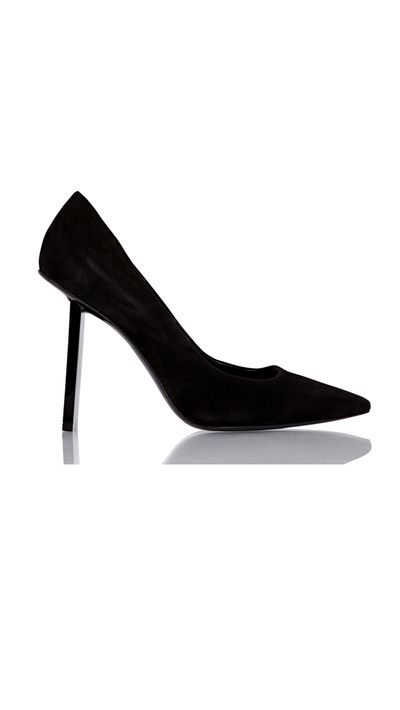 "<a href=""http://www.greenwithenvy.com.au/product_details.php?id=G005BLACK38#"" target=""_blank"">Rectangular Heel Pump, $464.98, Pierre Hardy</a>"