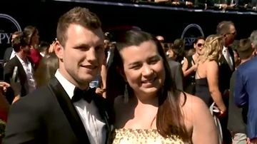 Jeff Horn rubs shoulders with the stars at the ESPY Awards
