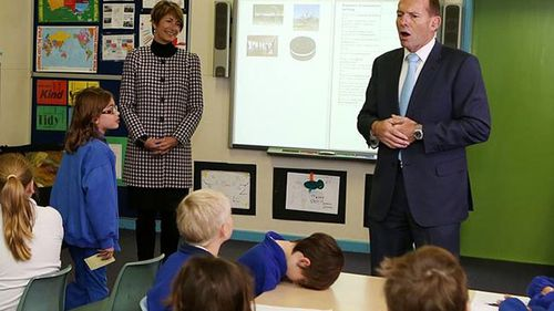 Bored schoolboy photo returns to haunt PM Tony Abbott