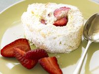 Coconut pavlova roll