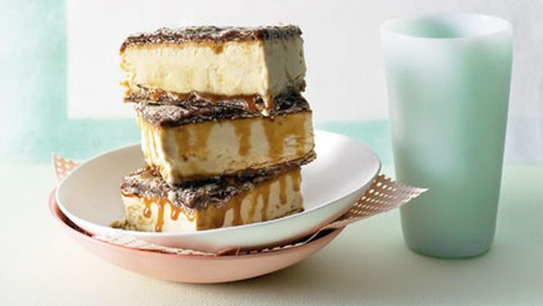 White chocolate-espresso parfait sandwiches