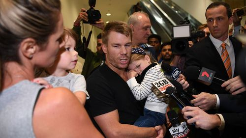 David Warner has apologised for letting the team down over the South African ball-tampering incident. (9NEWS)