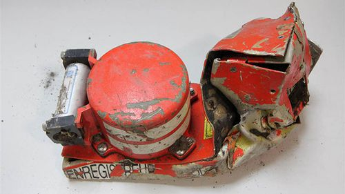 The battered cockpit voice recorder recovered from the crash site of Germanwings Flight 9525.